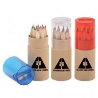 Buy cheap 3.5 inch 6pcs natural  colour pencil set with sharpener custom gift mini color pencil from wholesalers