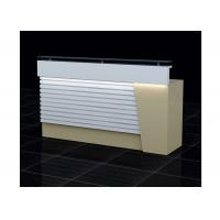 Buy cheap Wood  And Clear Glass Retail Checkout Counter LED Installed Interior 1500 * 500 * 1150mm from Wholesalers