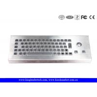 Quality Dust-Proof and Waterproof Desktop Industrial Keyboard With Stainless Steel Trackball wholesale