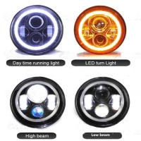 Buy cheap 7 inch Round Jeep Wrangler LED Headlights With Halo Ring Angel Eyes 70Watt , 3700Lumens headlight for Jeep from wholesalers