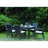 Buy cheap Six Seater Rattan Dining Set Outdoor Weatherproof Rattan Garden Furniture from Wholesalers