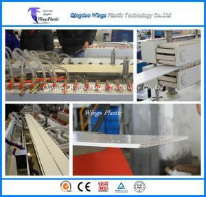 China PVC Ceiling Board / Platfond / Buckle Plate Making Machine 300mm Profile Width on sale