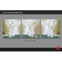 Buy cheap 3D 4D 5D Faux Tile Wall Panels Bamboo Fiber Calla Lily Pattern Fireproof from Wholesalers