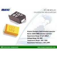 China BEC CA45 Chip SMD Tantalum Capacitor with Low Low Leakage Current 0.1μF - 680μF, 10% / 20% Tolerance on sale