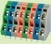 Buy cheap 3000V stainless steel 5.0mm screwless Spring type PCB Terminal Block FSM736 from Wholesalers