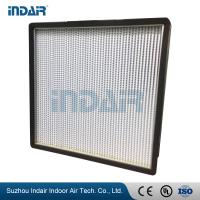 Buy cheap Ultra Thin Design Mini Pleat HEPA Filter Space Saving High Dust Loading Capacity from wholesalers