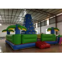 China Durable Inflatable Rock Climbing Wall Trees Digital Printing 7 X 7m Safe Nontoxic on sale