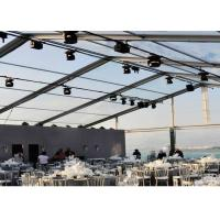China Weather Proof Large Clear Span Tent Fast To Install / Dismantle Transparent Wedding Tent on sale