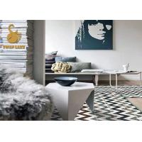 Quality Large Size Eco-friendly TPR Custom Area Rugs Slip Resistant Printing Square Area Rugs wholesale