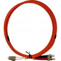 Buy cheap 3ft Fiber Optic Jumper Cables , Multimode Fiber Patch Cord LC To ST Connectors from wholesalers