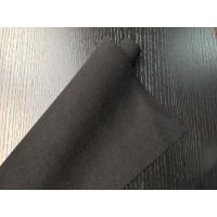 Quality Black Warm Soft Woven Wool Fabric ployster / Wool Upholstery Fabric wholesale