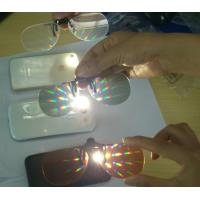 Buy cheap Rainbow Effect 3D Fireworks Glasses 0.06mm PVC Or PET Lenses from Wholesalers
