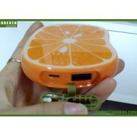 Buy cheap Portable Orange Shaped Cute USB Lithium Polymer Battery Power Bank For Mobile Phone from Wholesalers