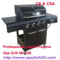 Buy cheap 4 Burner BBQ with side burner from Wholesalers