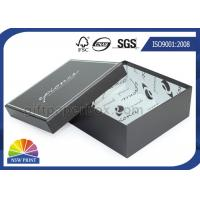 Buy cheap Black Rigid Cardboard Paper Gift Box For Shoes Apparel Packaging from Wholesalers