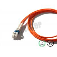 Buy cheap 3mm 1F Multimode Fiber Patch Cord  Orange , Custom Fiber Optic Jumper from Wholesalers
