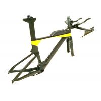Buy cheap Di2 Compatible T700 Carbon Triathlon Bike Frame BB86 TRP-TR02 Brake Type from Wholesalers
