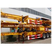 Buy cheap Deck commercial flatbed trailers 40ft flat for transport containers , bulk cargo with warranty from Wholesalers