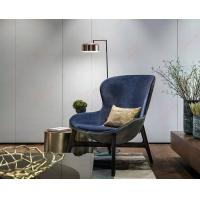 Buy cheap Discover Hotel Comfortable Wooden Lounge Chair For Living Room Blue Color from Wholesalers