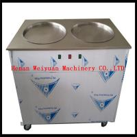 Buy cheap factory supply double pan fried ice cream roll machine sale from Wholesalers