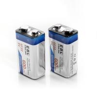 Buy cheap 600 Mah 9v Lithium Ion Rechargeable Cell Batteries Deep Cycle For Smoke Detectors from wholesalers