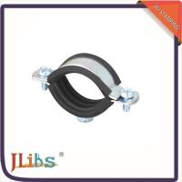 Buy cheap Wall Mount Cast Iron Pipe Clamps One Side Open One Side Closed 4 Point Welding from Wholesalers
