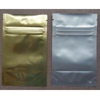 Buy cheap Aluminum Foil Zip Lock Bag Plastic Seeds Packaging , Golden / Silver from Wholesalers
