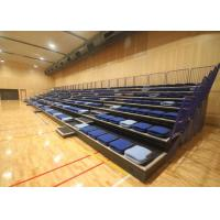 Buy cheap Leather Upolstered Arena Stage Seating HDPE Seat Material With Folding Backrest from Wholesalers