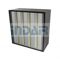 Buy cheap Polyurethane Sealant V Bank HEPA Filter Low Pressure Drop Large Air Flow from wholesalers