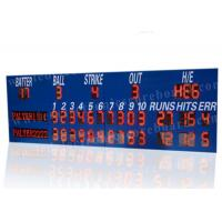 Quality Professional LED Baseball Scoreboard With Blue Frame Cabinet 1400mm*3800mm*100mm wholesale
