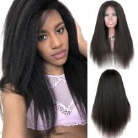 Buy cheap Yaki Kinky Straight Full Lace Wigs Human Hair No Chemical No Tangle from Wholesalers