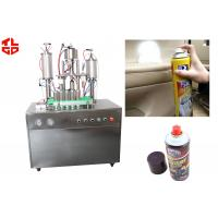 Quality Efficient Can Filling Machine For Adhesive Remover Spray Semi Automatic 800-1100cans/Hour wholesale