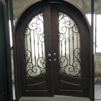 Full Round Top Decoritive Door Wrought Iron Entry Door