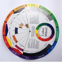 Buy cheap Mix Round Tattoo Accessories Palette Pigment Color Wheel Paper Card from wholesalers