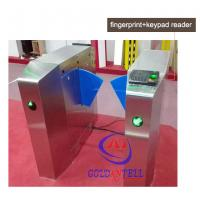 Buy cheap Passage optical Flap Barrier Gate , bi directional Bus half height turnstile sound Alarm from Wholesalers