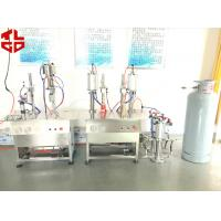 Buy cheap Pneumatic Semi Automatic Aerosol Filling Machine Mousse Aerosol Spray Fillers from Wholesalers