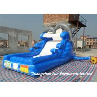 Buy cheap Inflatable dolphin inflatable water slide for kids, inflatable water slide whole seller from wholesalers