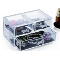 Buy cheap 3 Drawers Acrylic Display Holders , Makeup Jewellery Organizer Box from wholesalers