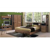 Buy cheap Fashion Melamine 5 Piece Bedroom Furniture Sets With Sliding Wardrobe And TV Stand from wholesalers
