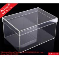 Buy cheap DY101 Acrylic Shoe Box Shoes Container Shiny Smooth Strong Tough from Wholesalers
