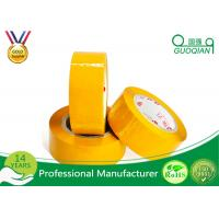 Buy cheap Yellowish Colored Duct Tape Waterproof Masking Tape For Carton Sealing Hot Melt Adhesive from Wholesalers