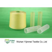 Full Color Dyed Polyester Yarn Ring Spun Yarn , High Tenacity Polyester Yarn