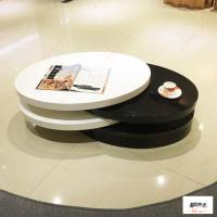 China Contemporary High Gloss Small Oval Rotatable Coffee Table / Living Room Furniture on sale