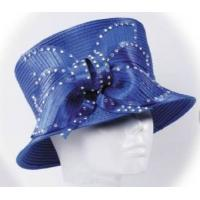 Buy cheap Blue Pretty Ladies' Church Hats With Stunning Diamond Chain , Women Church Hat from Wholesalers