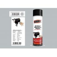 China 500ml Animal Marking Spray Paint  Silver Grey Color For Cow Liquid Coating State on sale
