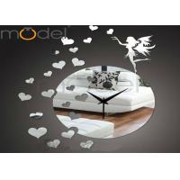 Buy cheap Custom Decorative Mirror Wall Sticker Clock Do It Yourself Gift Wall Clock Craft from Wholesalers