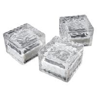3pc Solar Powered Outdoor Lights LED Ice Cube Lights For Wedding Decoration
