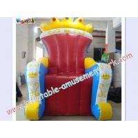 Buy cheap Colorful Advertising Inflatable , 2.8m Outdoor For King Throne Chair from Wholesalers