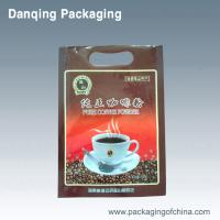 Buy cheap Flexible Coffee Bean Bags Packaging Three Side Seal Pouches With Handle Hole from Wholesalers