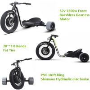China Three Wheel Powerful Electric Bike , Motorized Adults Powered Drift Trike on sale